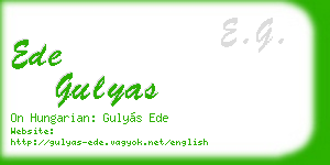 ede gulyas business card